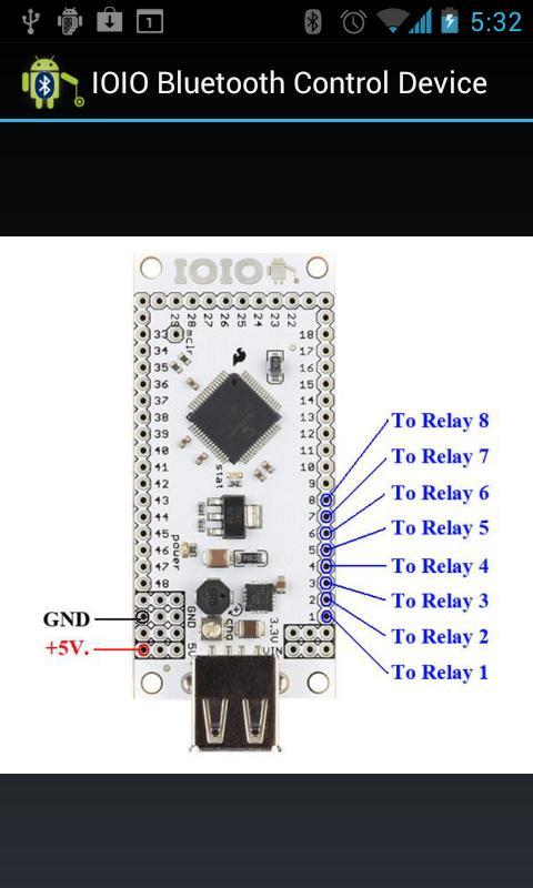 IOIO Bluetooth Device Control- screenshot