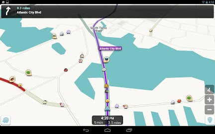 Waze Social GPS Maps & Traffic Screenshot 1