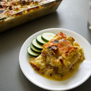 Zesty Cauliflower, Ham and Cheese Casserole