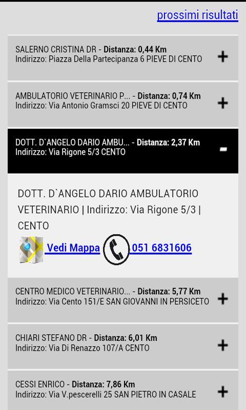 Cerca Veterinario- screenshot
