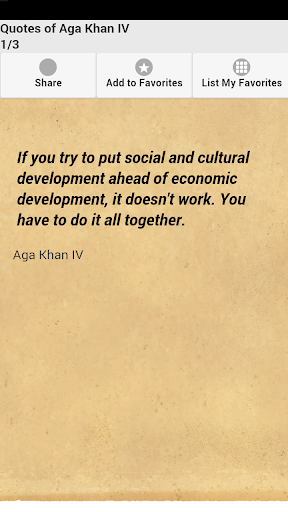Quotes of Aga Khan IV