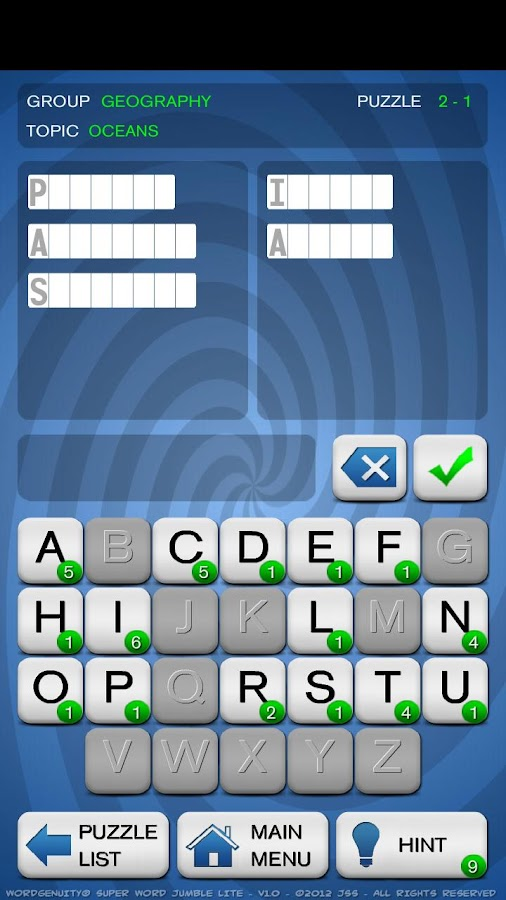 Wordgenuity ®Super Word Jumble - screenshot