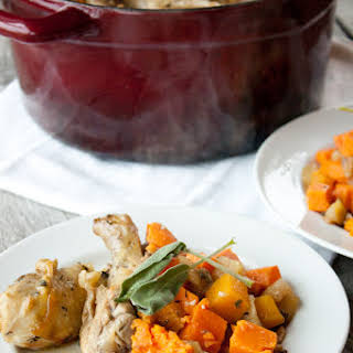 One Pot Savory Chicken and Fall Produce.