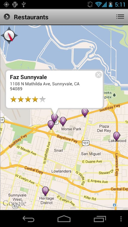 Yahoo Search Application - screenshot
