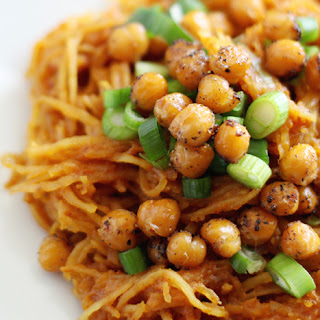 Spaghetti Squash Curry with Roasted Chickpeas