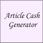 Article Cash Generator