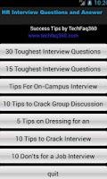 Screenshot of HR Interview Questions & Ans