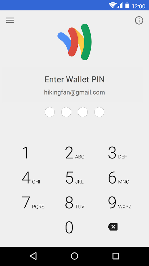 Google Wallet: screenshot