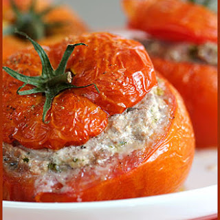 Stuffed Tomatoes with Veal and Herb Ricotta