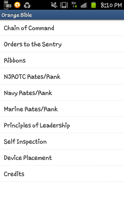 Orange Bible(NJROTC) - screenshot