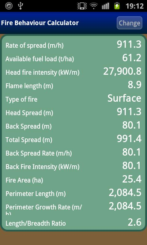 Fire Behaviour Calculator Beta- screenshot