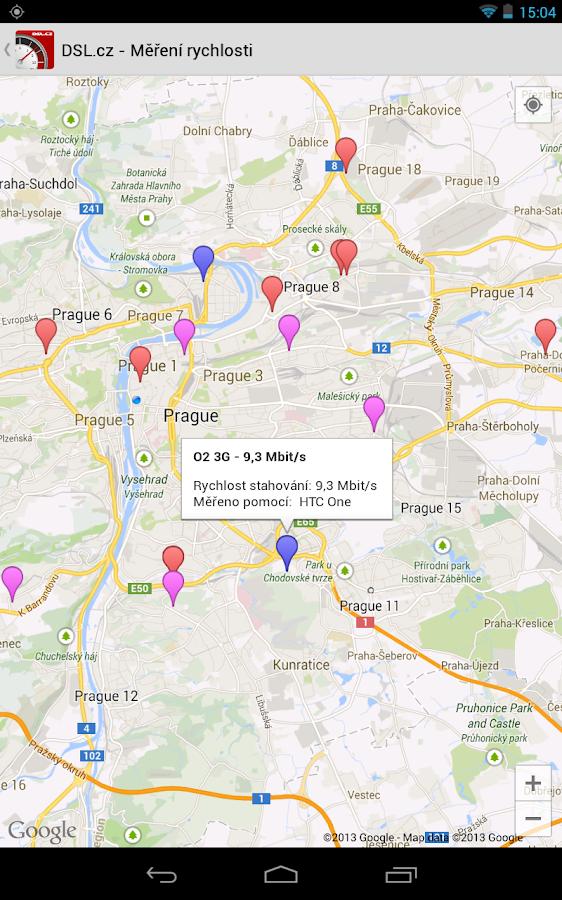 DSL.cz - Měření rychlosti - screenshot