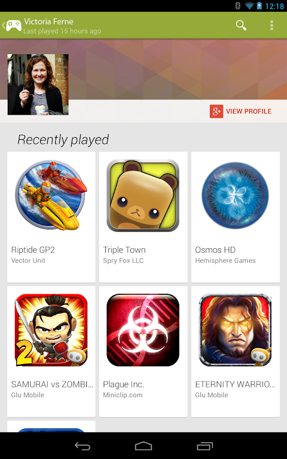 Google Play Games - screenshot