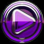 Poweramp skin Purple Glas luxe v1.33
