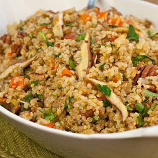 Quinoa Pilaf with Shiitake Mushrooms, Carrots & Pecans