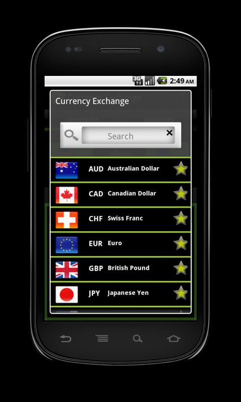 Currency Exchange - screenshot