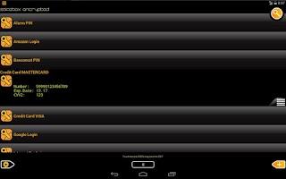 Screenshot of SafeBox password manager