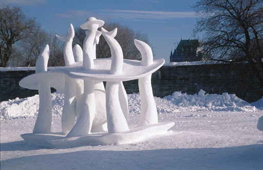 snow-sculpture-Carnaval-de-Quebec - A snow sculpture at the Carnaval de Quebec in Quebec City.