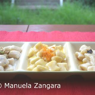 Ricotta Gnocchi With 3 Sauces.