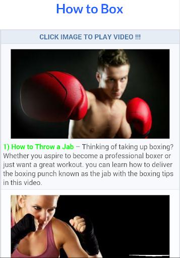 Free Boxing Lessons