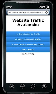 Website Traffic Avalanche screenshot 0