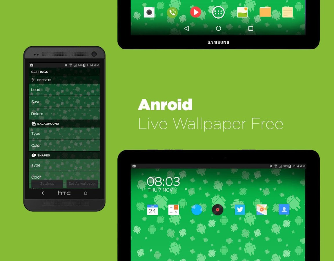 Androids Pro! Live Wallpaper- screenshot
