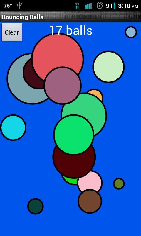 Bouncing Balls- screenshot