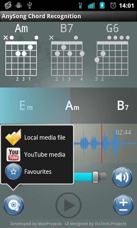 AnySong Chord Recognition - screenshot