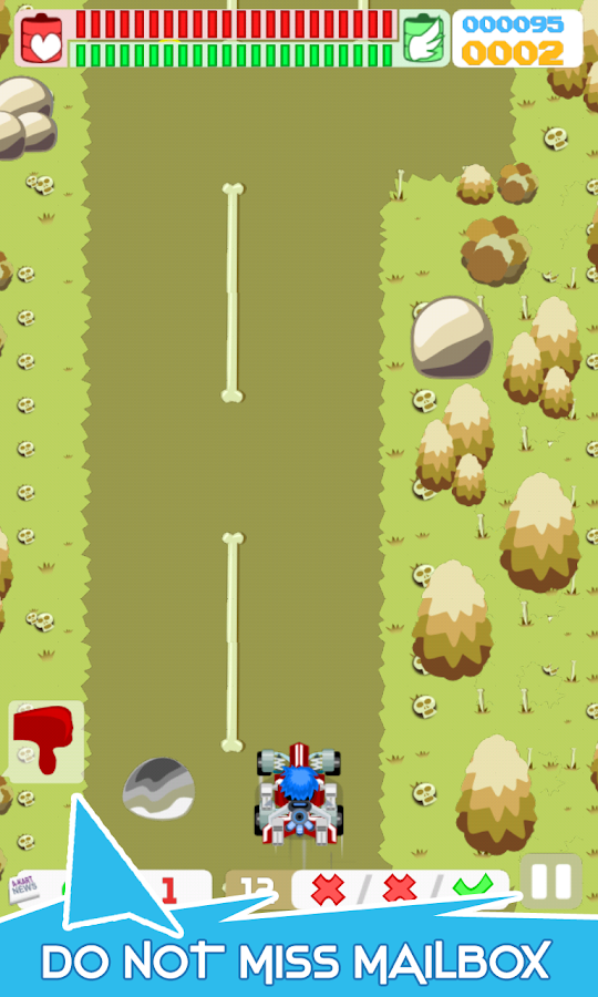 A-Kart Paperboy : Runner Game- screenshot
