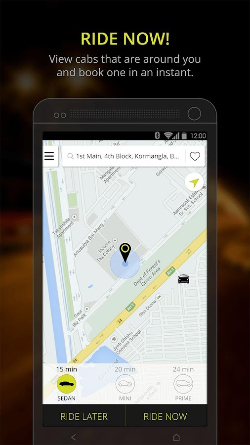 Ola cabs - Book taxi in India - screenshot