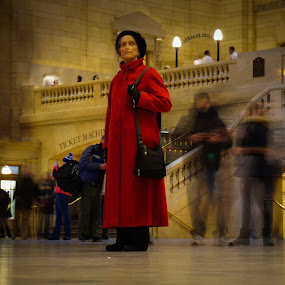 Lady In Red by VAM Photography - People Street & Candids ( woman, grand central station, travel, nyc, places,  )