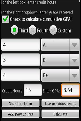 GPA & Final Exam Calculator- screenshot