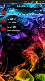 GO SMS Theme Color Smoke- screenshot thumbnail
