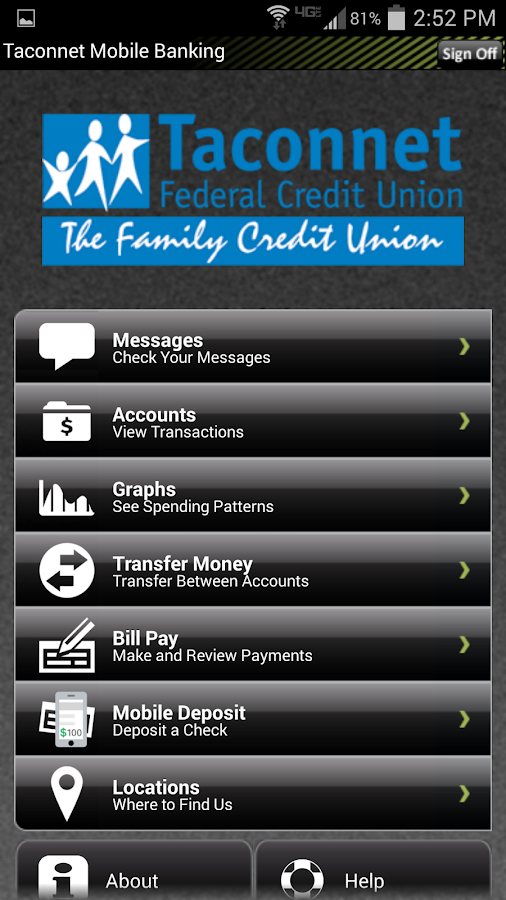 Taconnet FCU Mobile Banking- screenshot