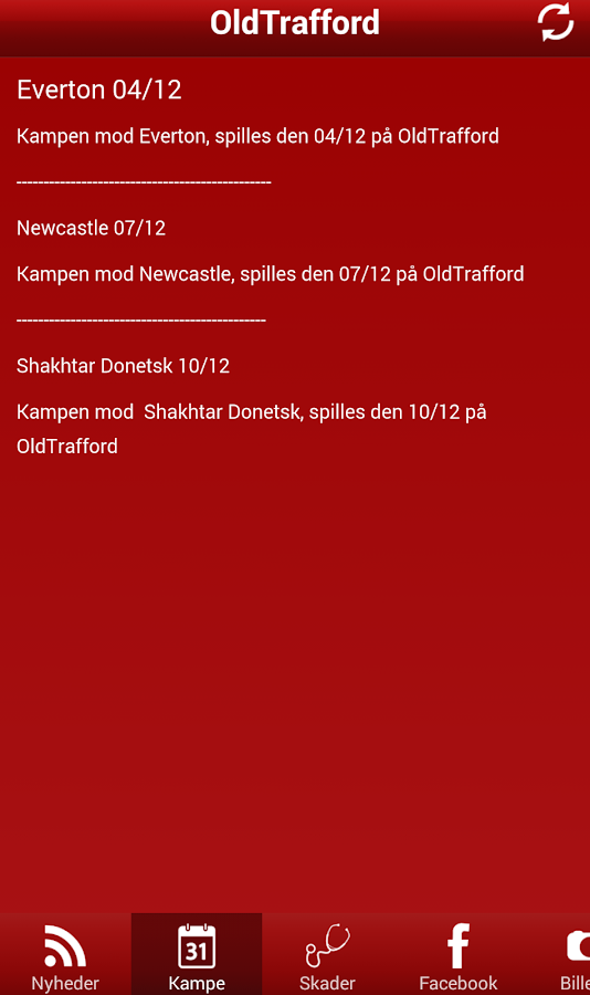 Oldtrafford News - screenshot