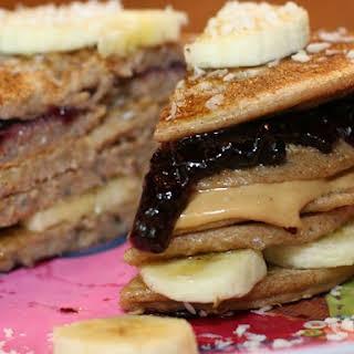 Nut Butter & Jam Pancake Sandwich.