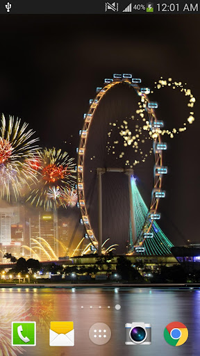 2019 Fireworks Live Wallpaper Free 1.0.5 screenshots 8