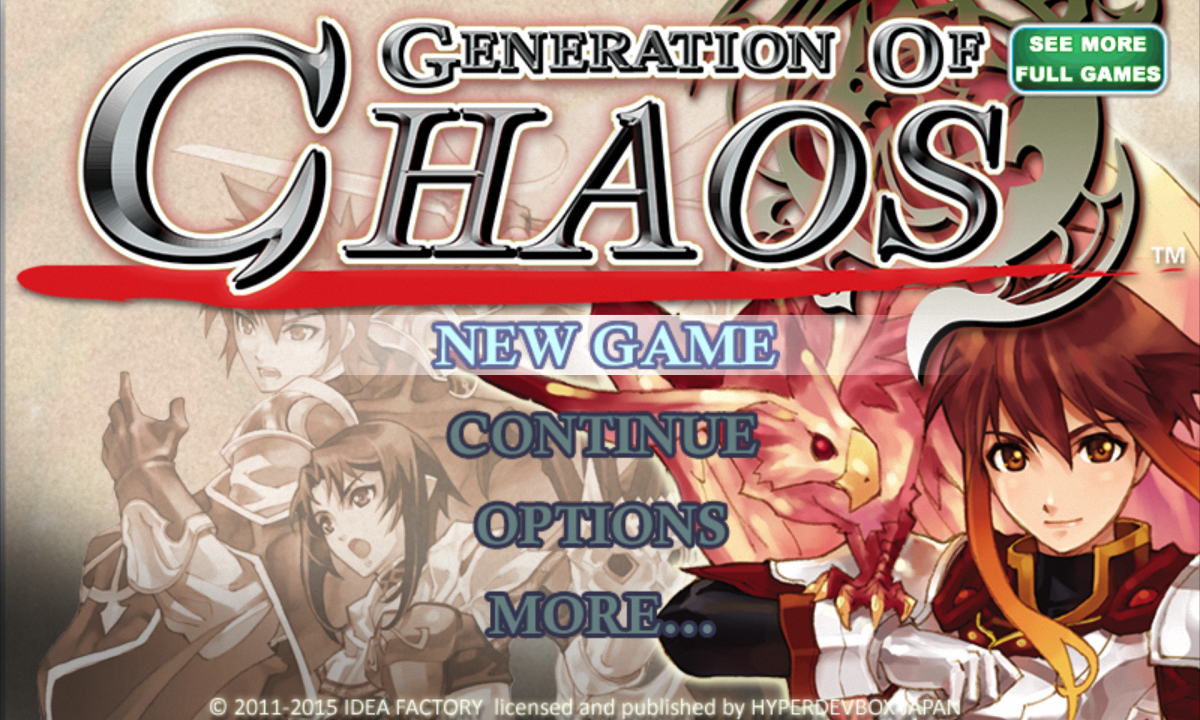SRPG Generation of Chaos - screenshot