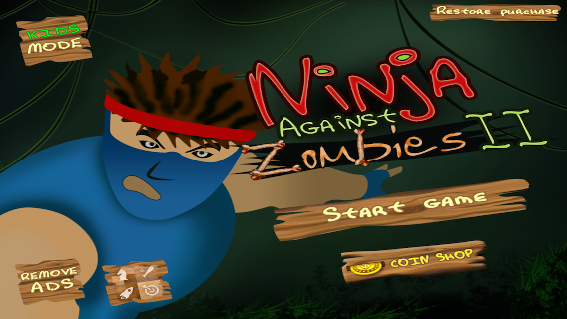 Ninja against Zombies II - screenshot