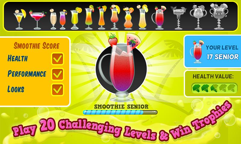 Smoothie Maker Crazy Chef Game - screenshot