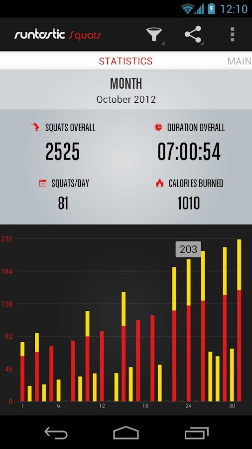 Runtastic Squats - screenshot