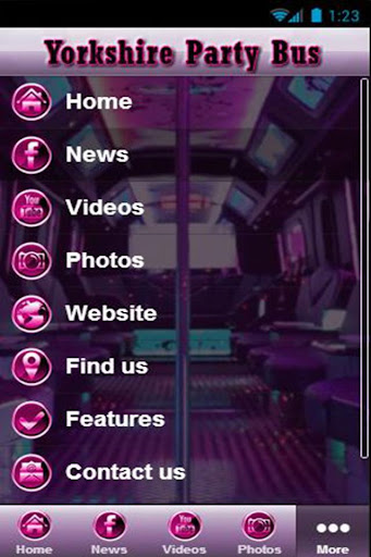 Yorkshire Party Bus App