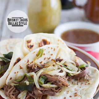 Brisket Tacos, Dallas Style