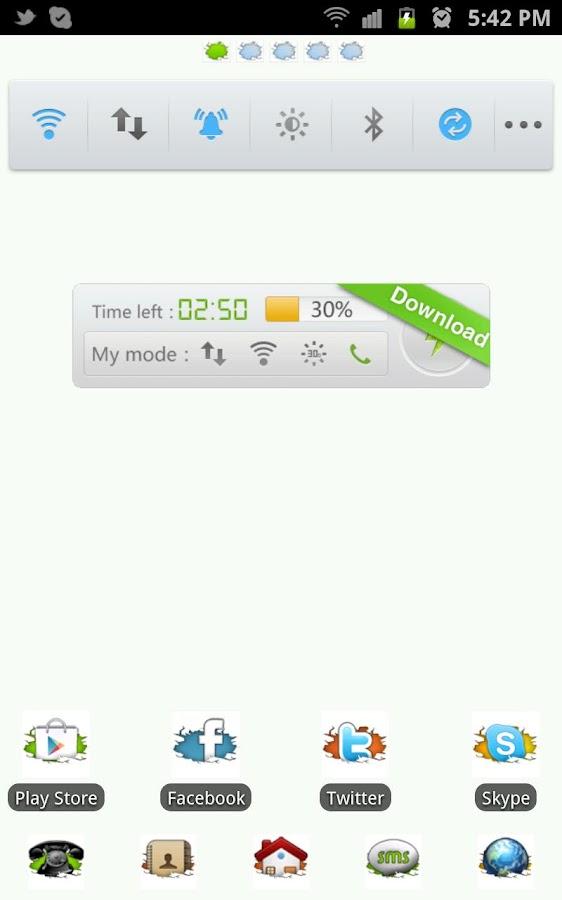 Cracked in White Go Launcher - screenshot