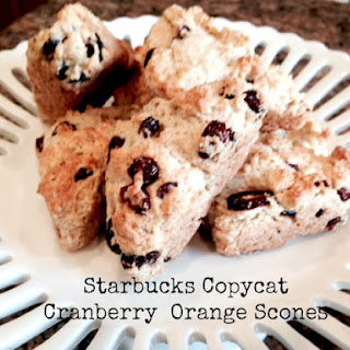 Copycat Starbucks Cranberry Orange Scones.