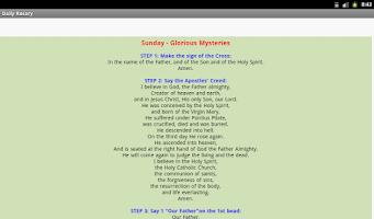 Screenshot of Daily Rosary