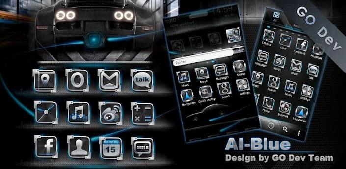 AI-Blue GO Launcher EX Theme apk