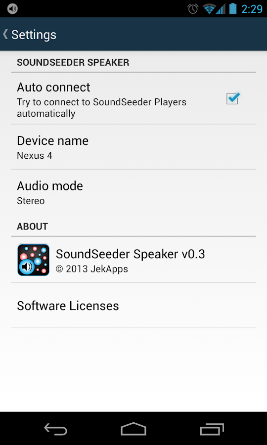 SoundSeeder Speaker - screenshot