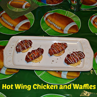 #AD Hot Wing Chicken and Waffle Appetizers