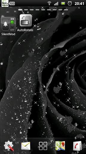 黒は ライブ壁紙をバラ